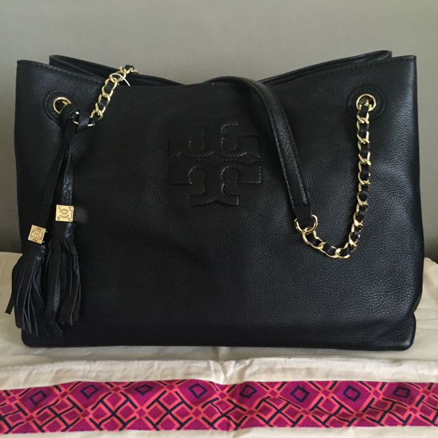 32493876e66e Authentic Tory Burch THEA CHAIN SHOULDER SLOUCHY TOTE