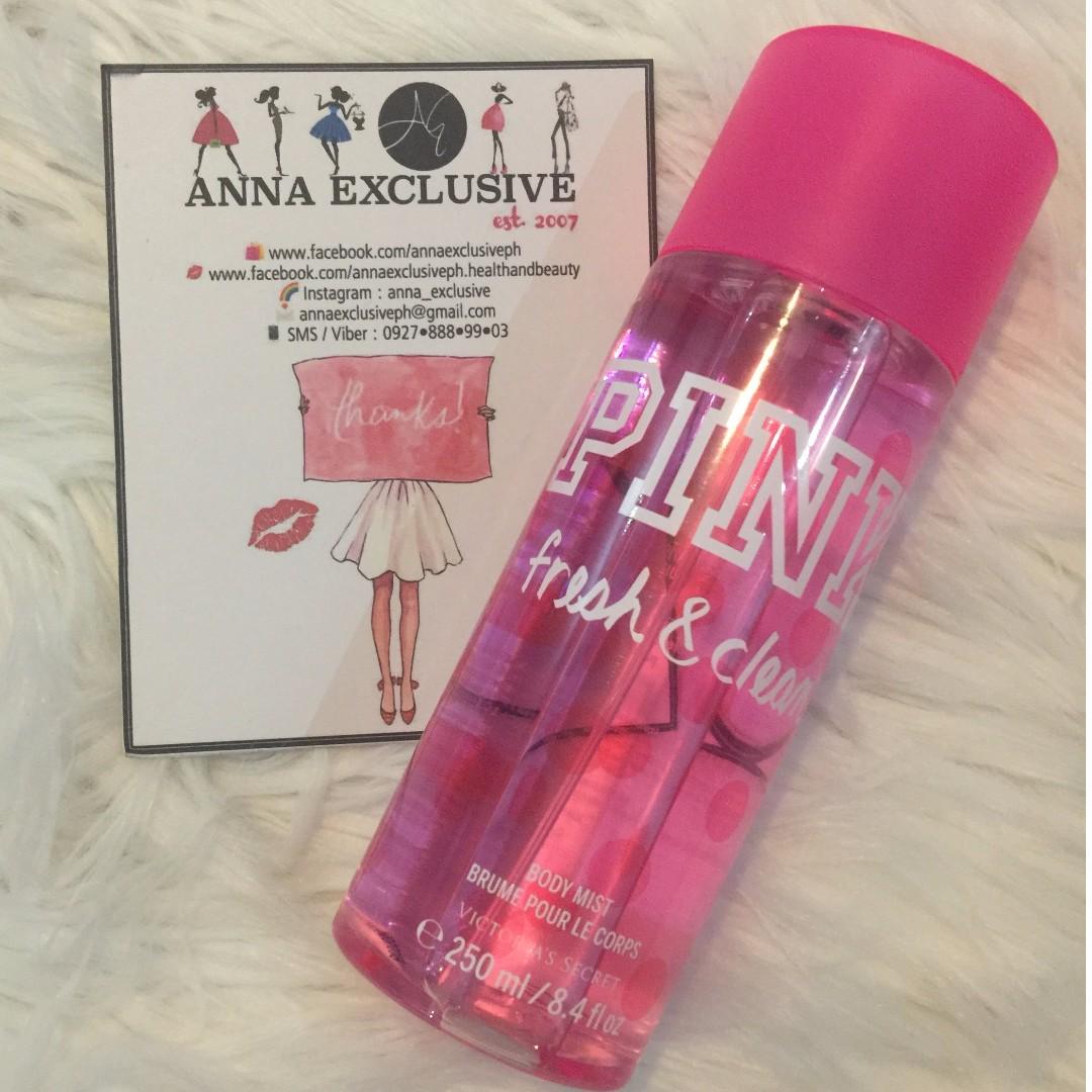 Authentic VICTORIA'S SECRET PINK 'Fresh & Clean' Body Mist 250ml