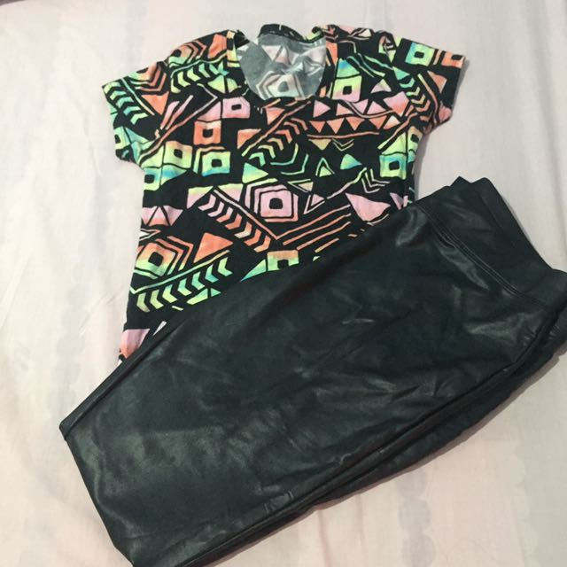 Aztec Fitted Top And Express Leatherette