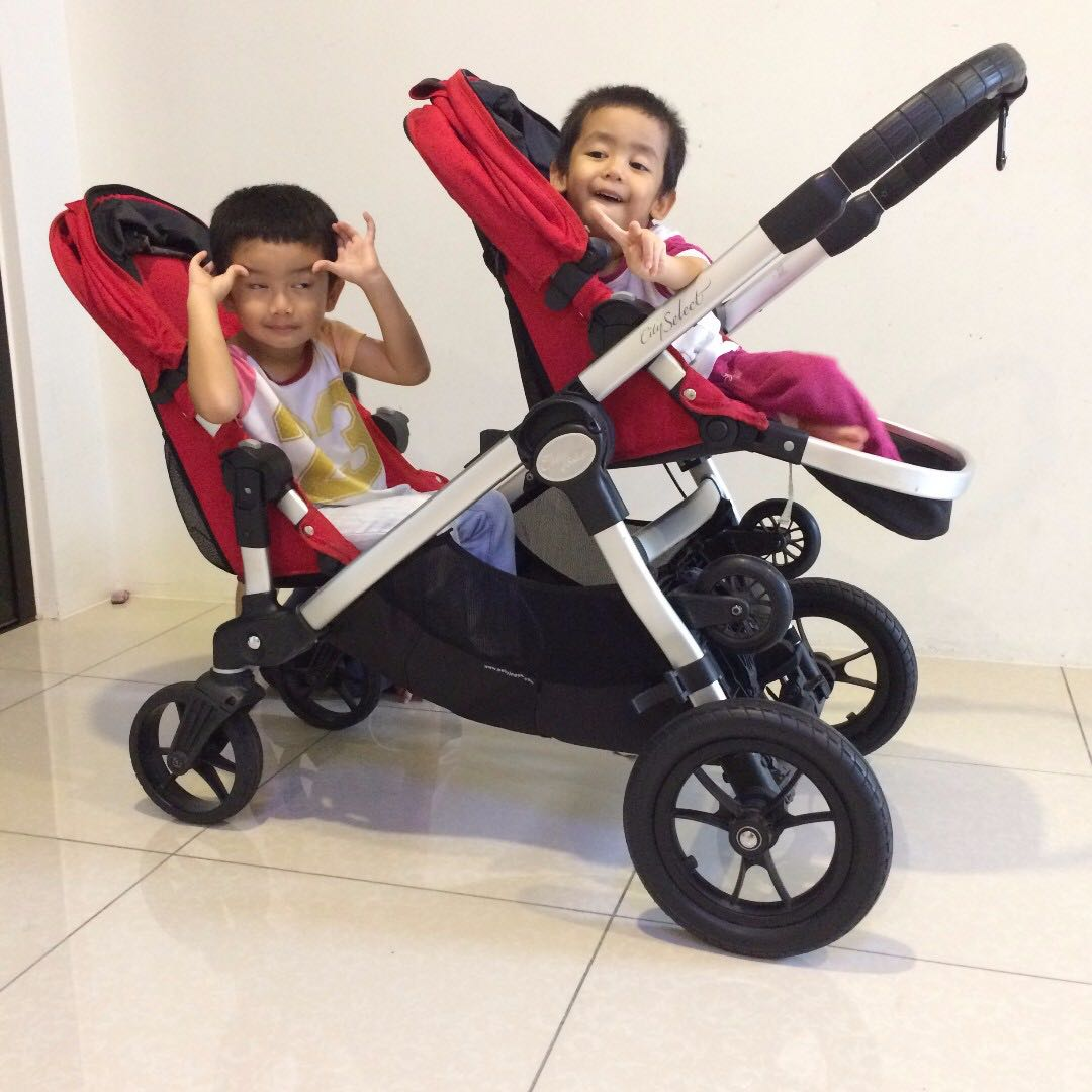 Baby Jogger City Select Double Stroller With Glider Board