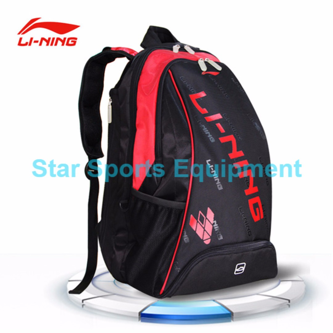 Badminton Bag Li Ning 3pcs Shoulder 2017 Red Promotion 2018 Series Brand New Delivery Sports Equipment On Carou