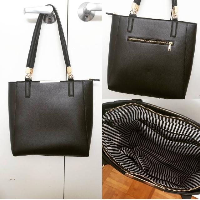 Black & Gold Rimmed Bag
