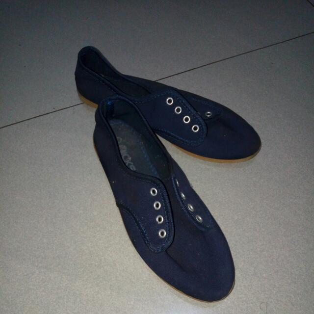 Blue Canvas Shoes Size 7