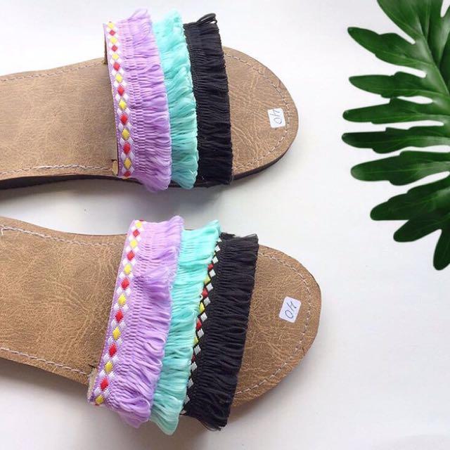 Boho Slip Sandal 3D