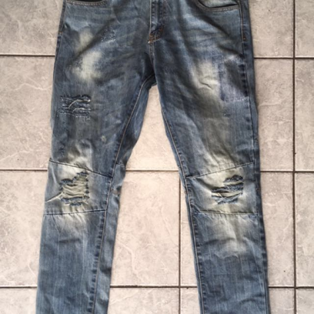 Brand new Embellish Distressed Jeans- $160RP