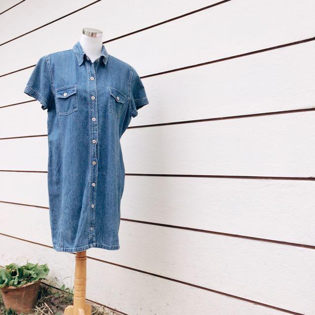 [C98] Denim Dress / Shirt
