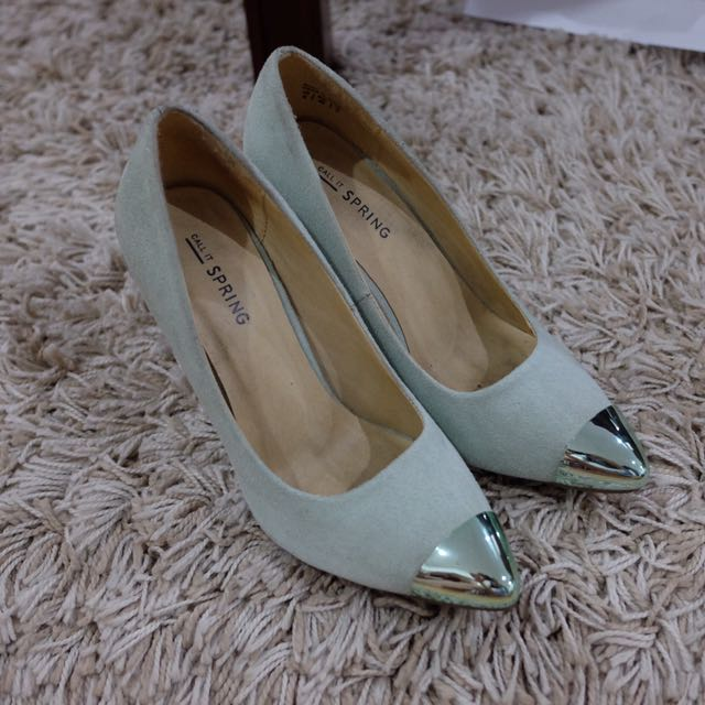 Call It Spring Teal Stiletto Pumps