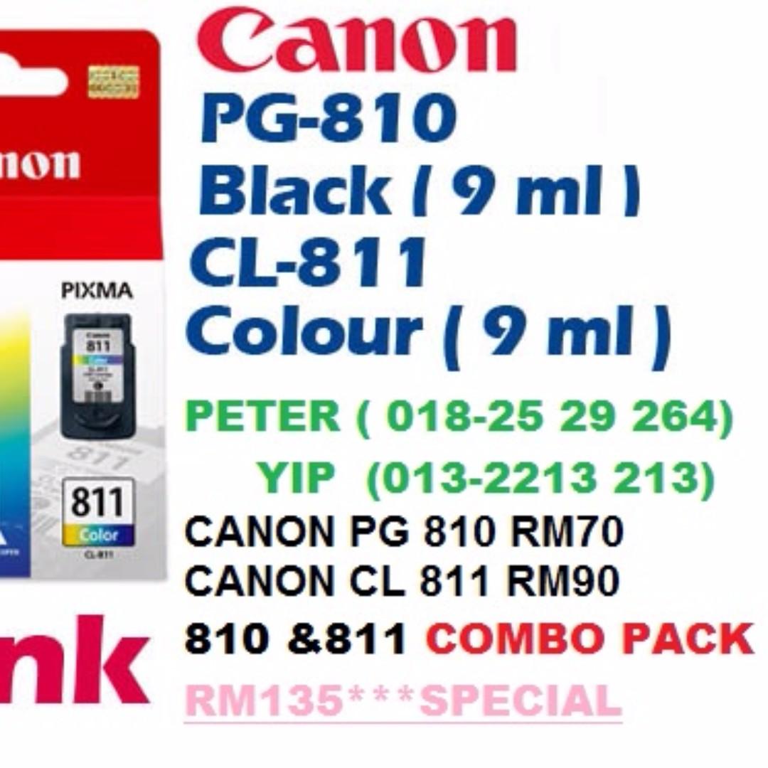 Canon 810 Pg810 Black Cartridge Pg Electronics Catridge 811 Colour Computers On Carousell