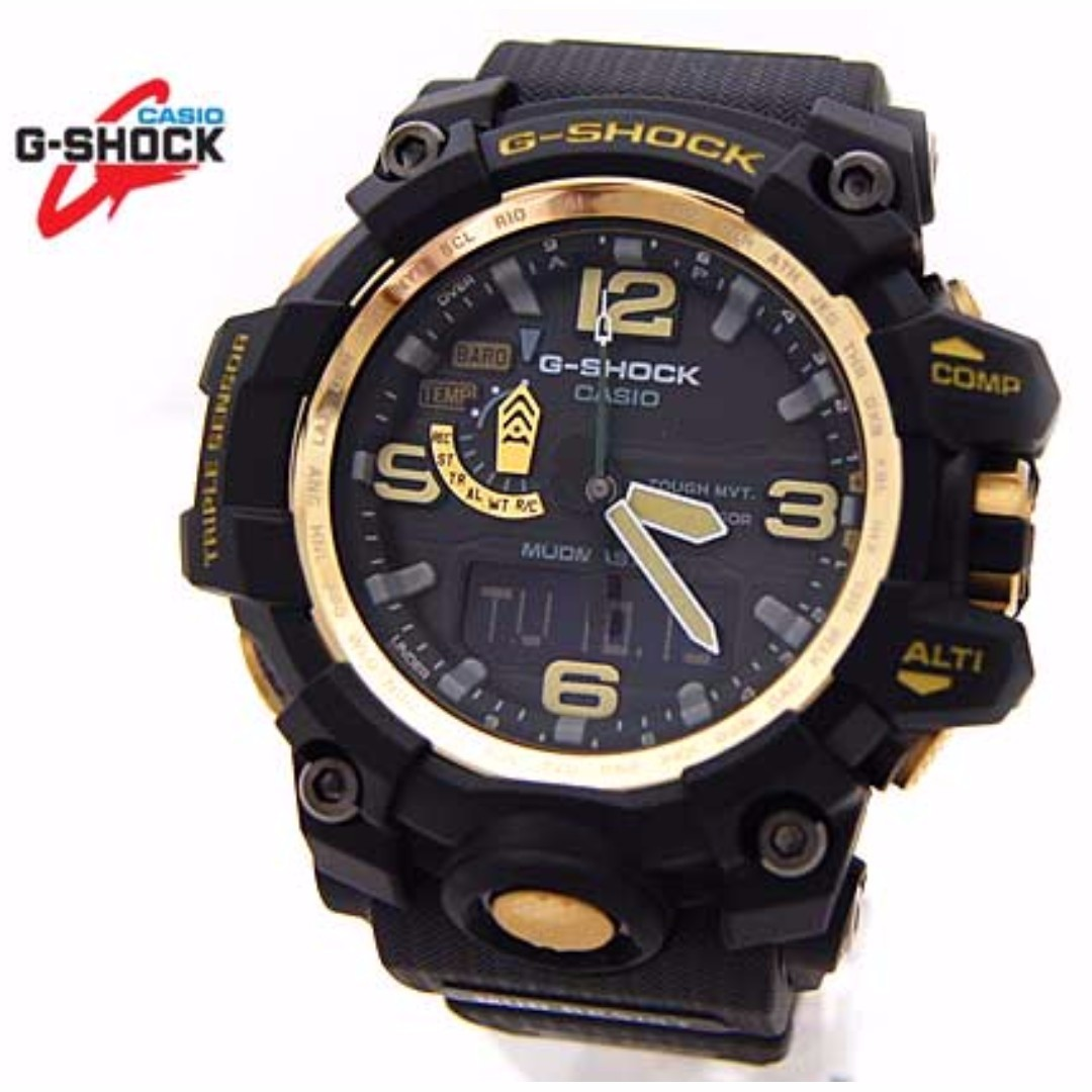 cd4f55090b1 Casio G Shock Mudmaster GWG-1000GB-1A Triple Sensor Tough Solar ...
