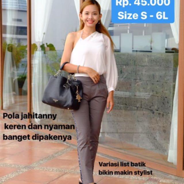 Celana Wanita Katun Size Besar Batik