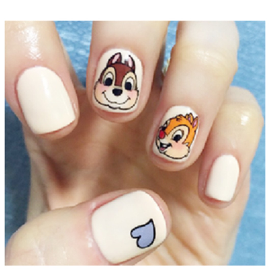 Chip and Dale nail art, Health & Beauty, Hand & Foot Care on Carousell