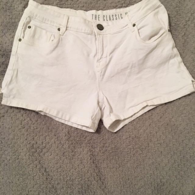 Cotton On White Denim Shorts