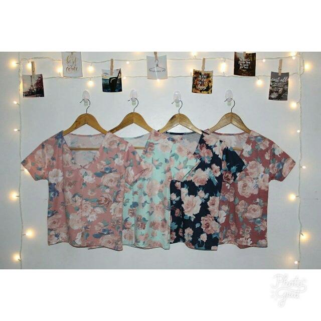 Crsscross Floral Top