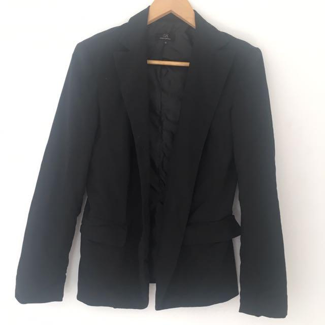 Cue Black Blazer Size 10