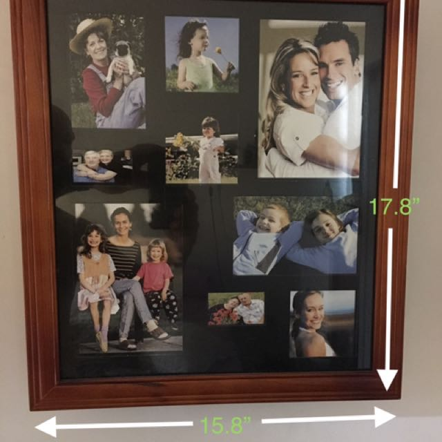Customizable Hanging Photo Collage Jewelry Armoire