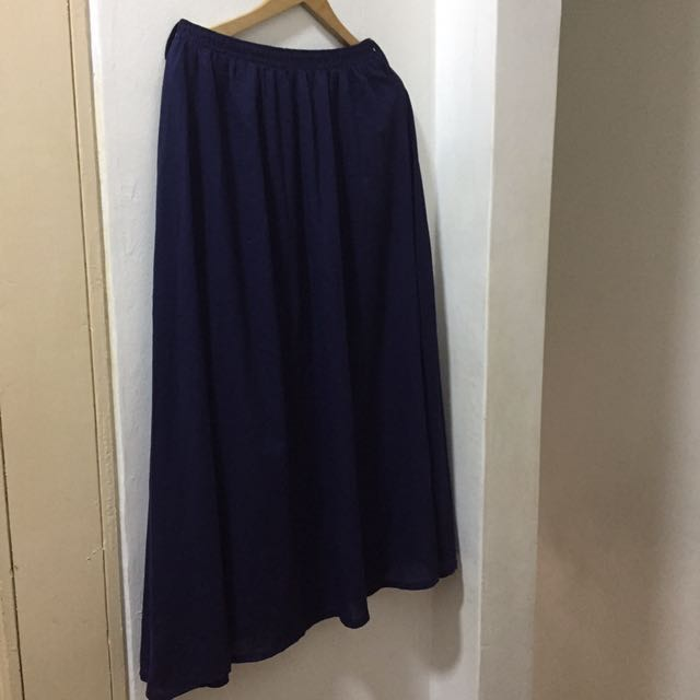 Dark Blue Long Skirt Size S-M
