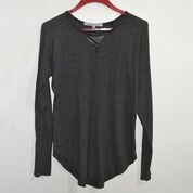 Dark Grey with leather details long-sleeves