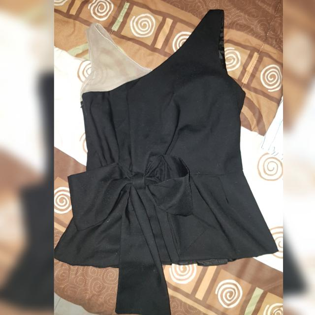 Dior Black Off Shoulder Top