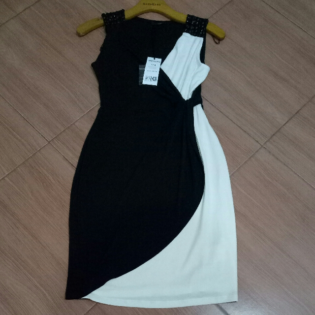 Dress Black N White Morgan