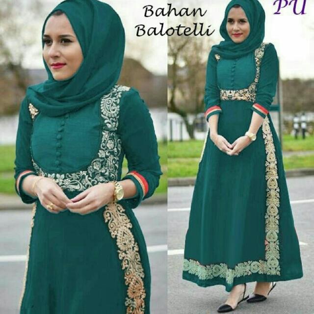 Dress Pesta Hijabers Mewah Exclusive