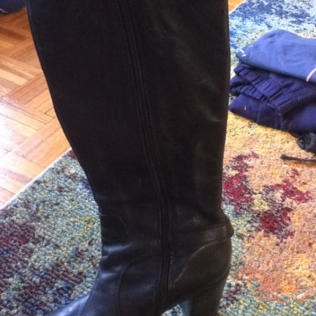 Franco Sarto Leather Heel Riding Boots