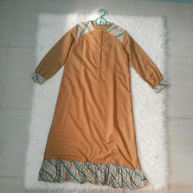 Gamis Batik Gold