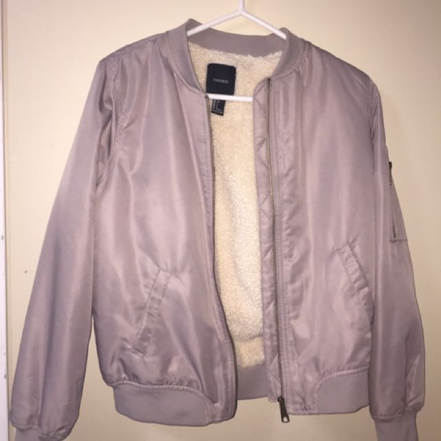 Grey bomer jacket from forever 21 s
