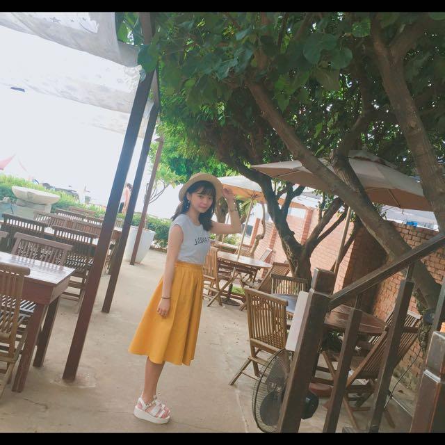 黃色Gu裙子