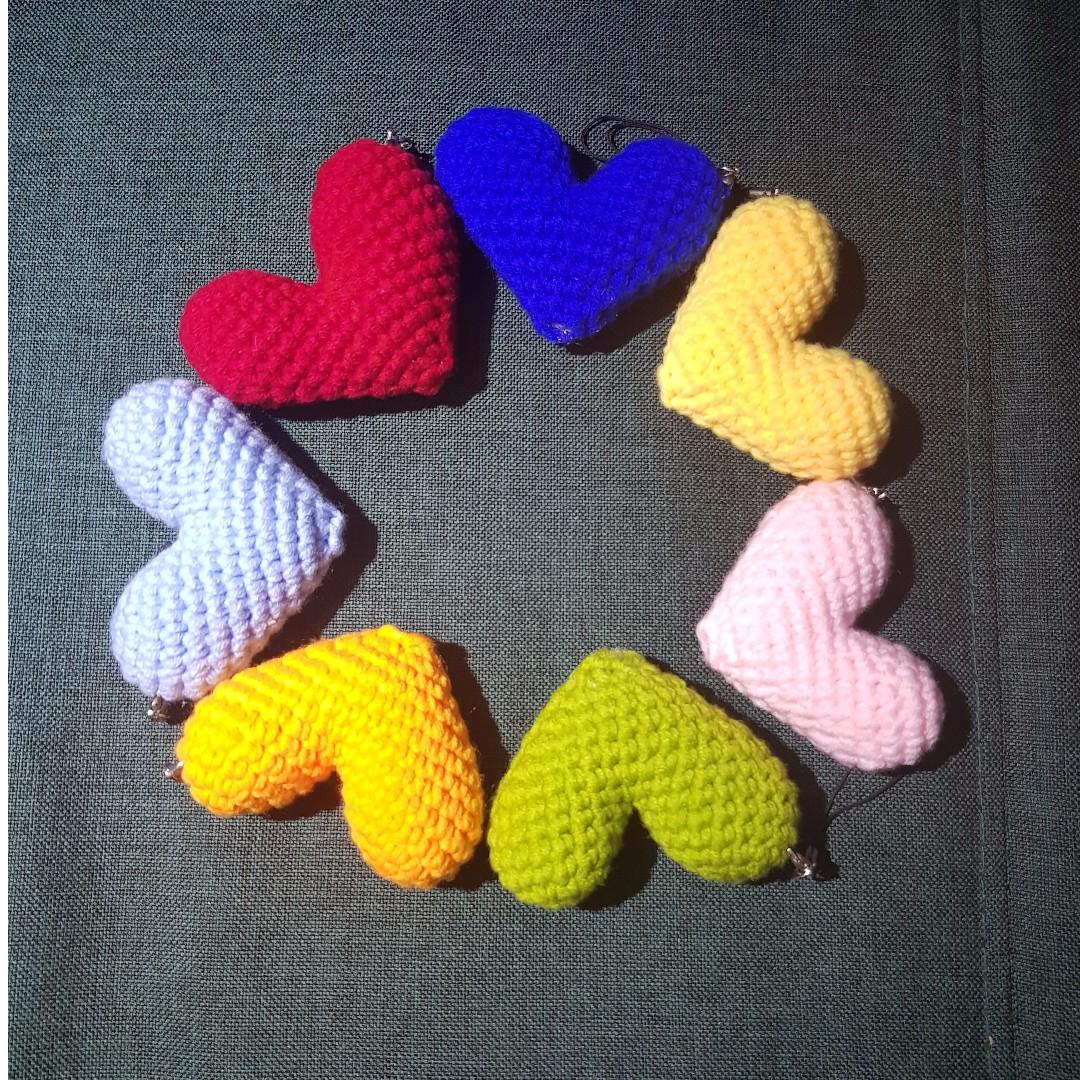 Handmade Crochet Heart Best Gift For Teachers Day Thanksgiving