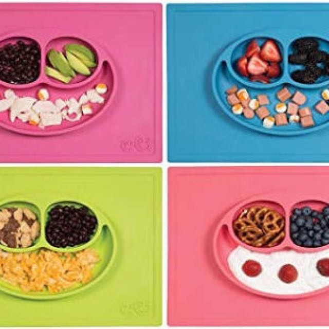 Happy Silicon Feeding Placemats Place Mat for Toddler and Baby Similar to EZPZ