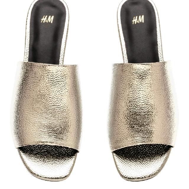 H&M 金色平底涼鞋 尺寸38