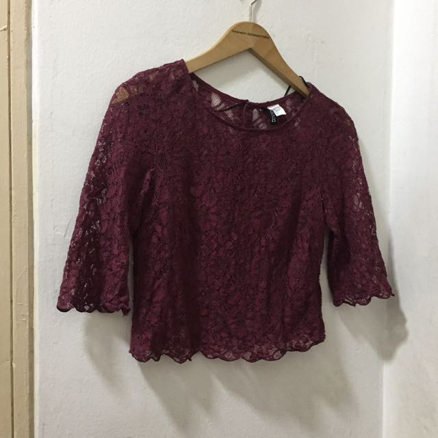 H&M Lace Crop Top Size EUR 32