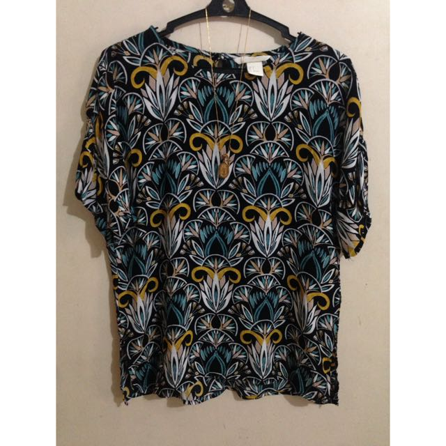 H&M Tribal Print Light & Breezy Top