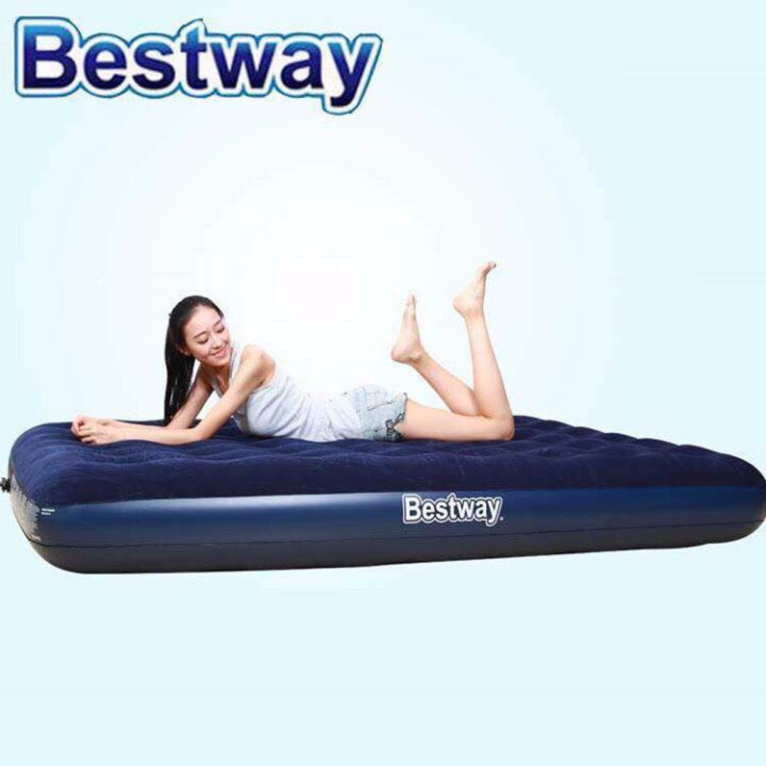 Inflatable Air Bed (Single/Double/Family size) FREE Pump