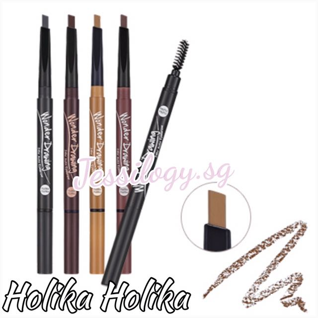 Instock Holika Holika Wonder Drawing 24 Hours Auto Eyebrow Pencil In