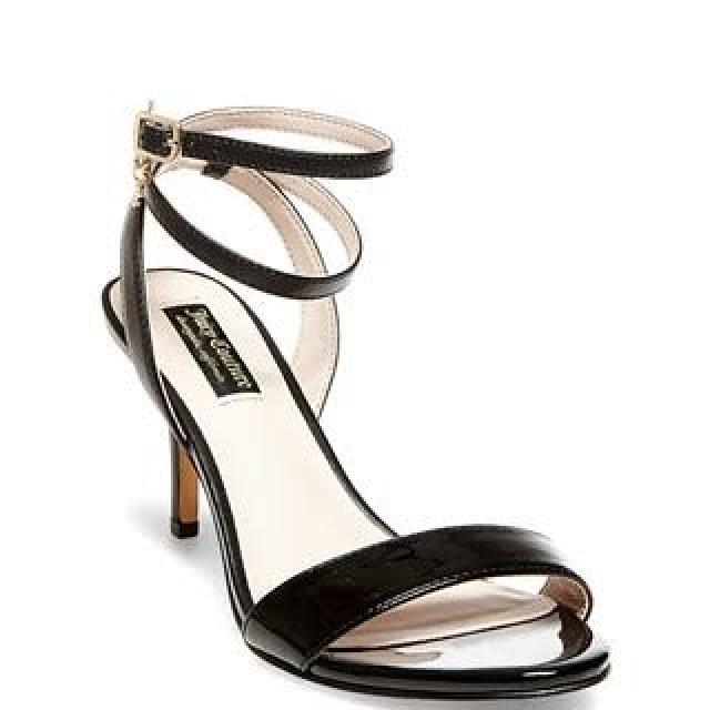 JUICY COUTURE Black Strappy Heels