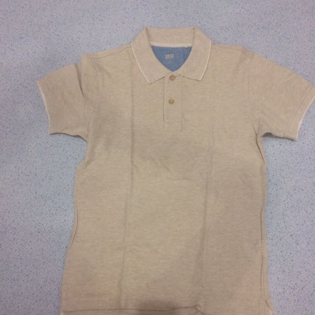 kaos polo uniqlo brown size S