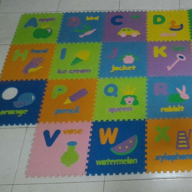 Karpet Evamat Abjad Preloved