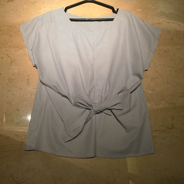 KOREAN Blouse With Bow Detail