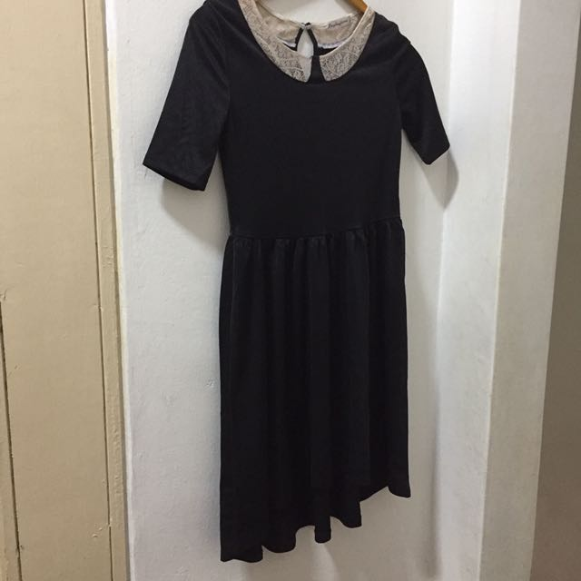 Lace Black Dress Size Xxs-S