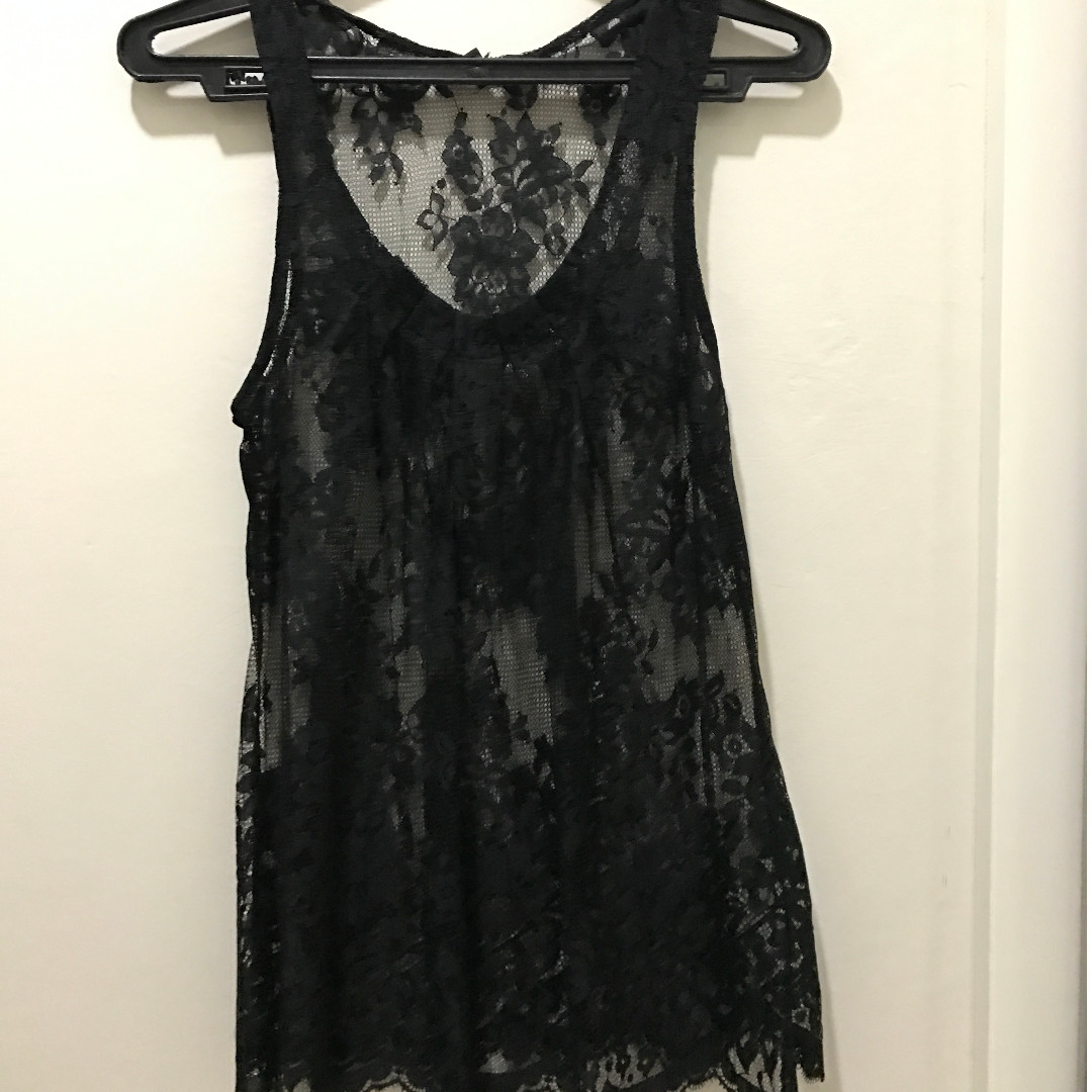 Lace Sleeveless Blouse (size XS)