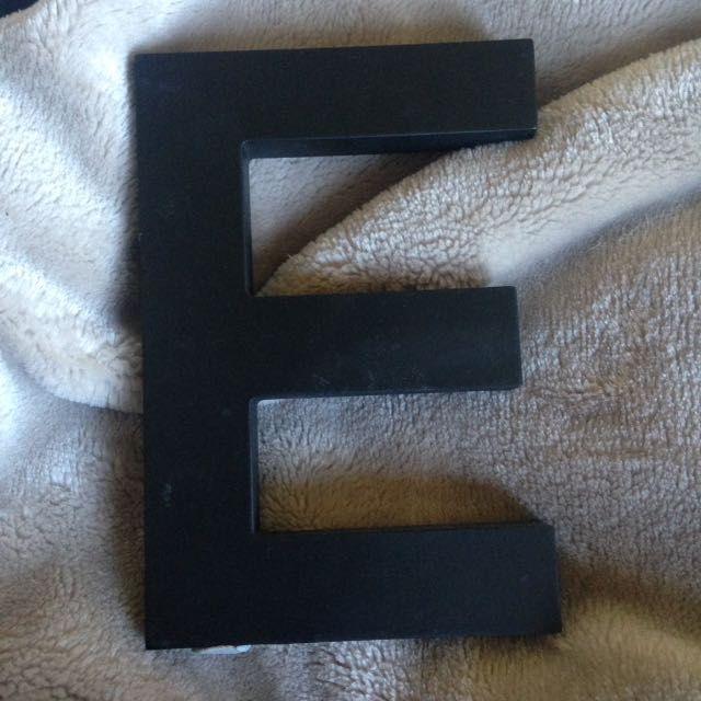 Letter E from Typo