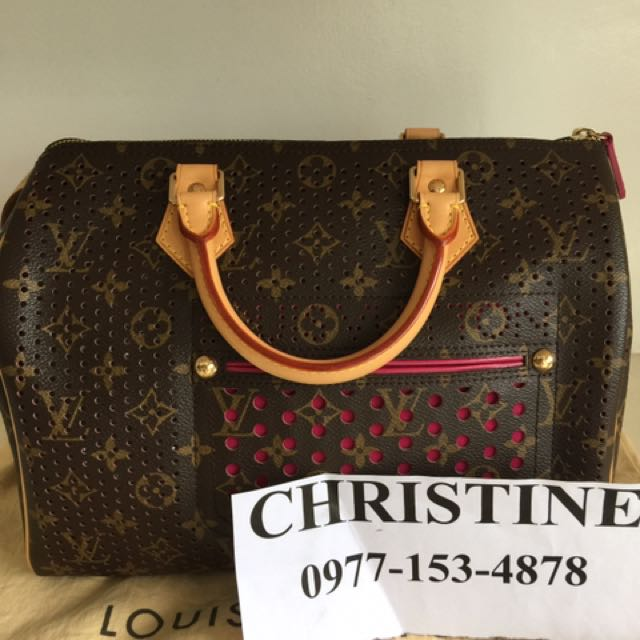 Louis Vuitton Perforated Speedy30