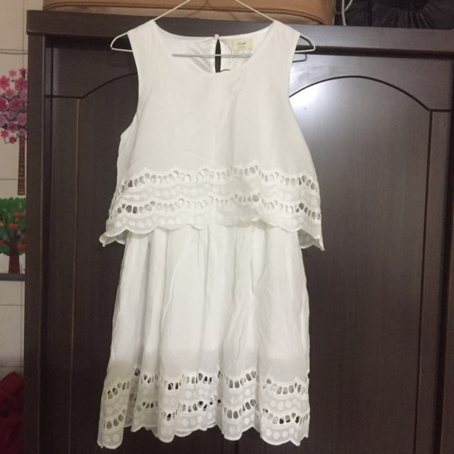 LOVFEE 洋裝(白M)全新拋售