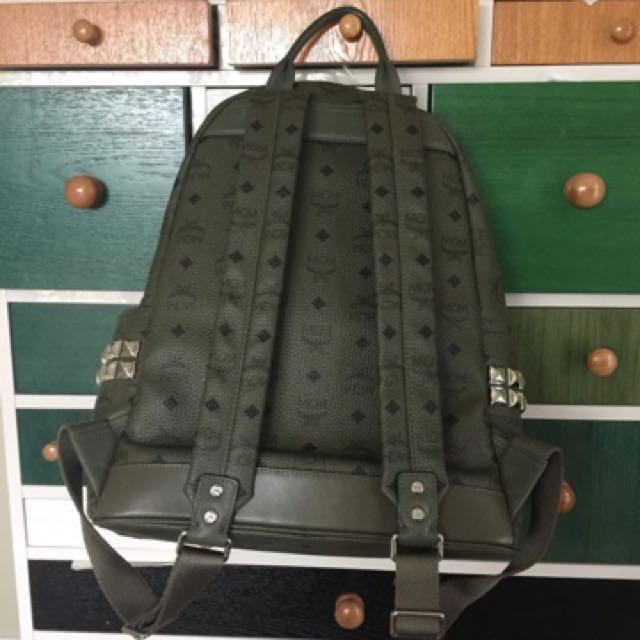MCM Bag pack Dark Green Brand New