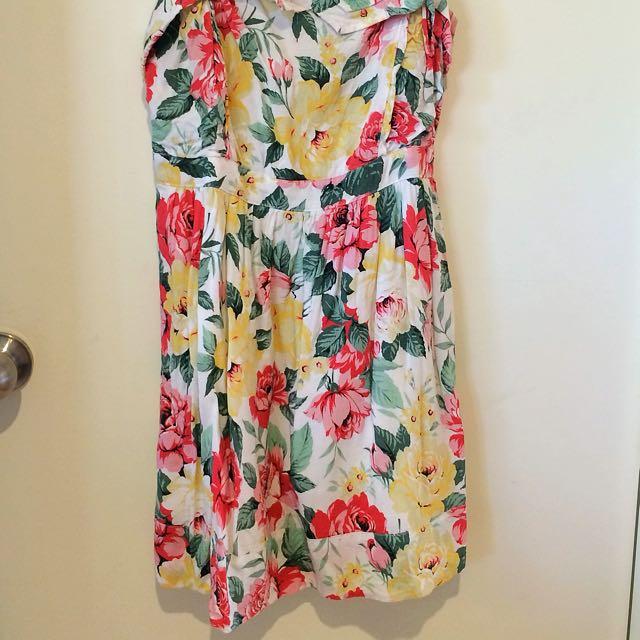 MINKPINK Floral Short Summer Dress Size 12