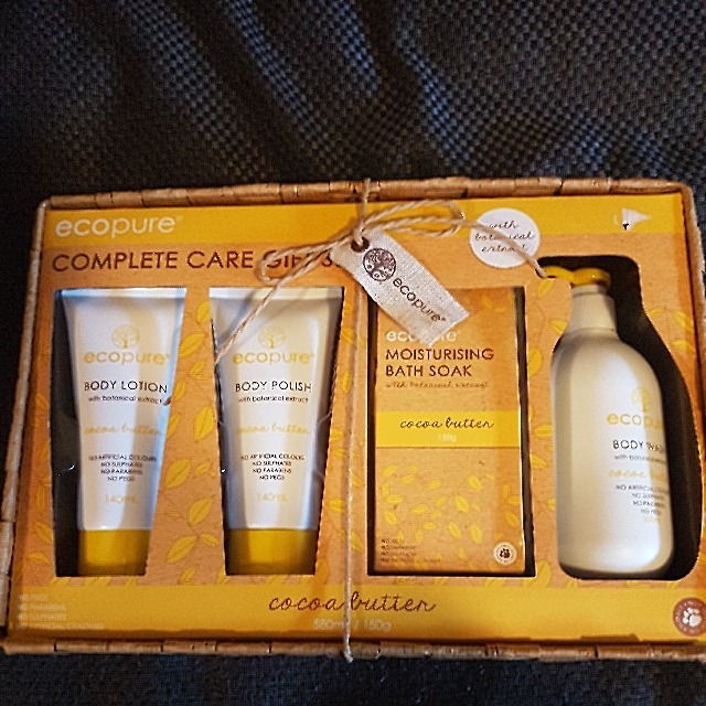 NEW Ecopure cocoa butter body care giftset