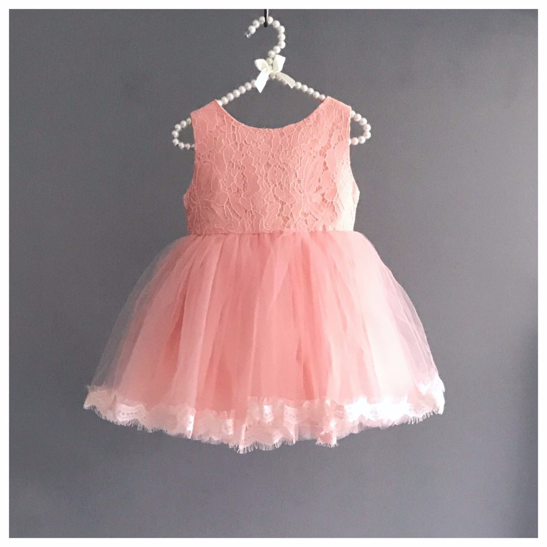 Rhea Salmon Pink Tutu Dress Birthday Formal Recital