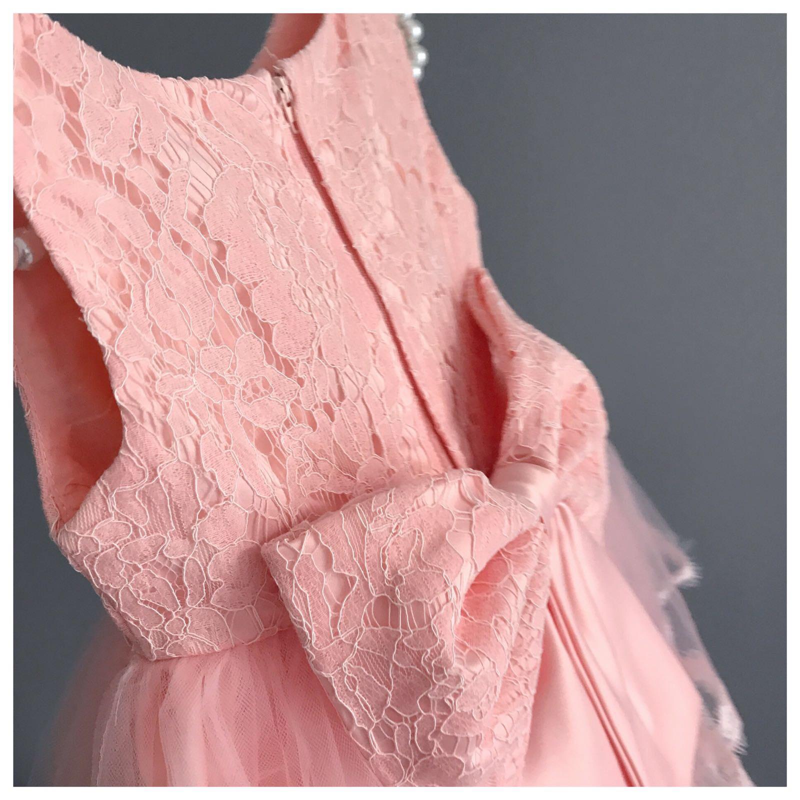 Rhea Salmon Pink Tutu Dress Birthday Dress Formal Recital