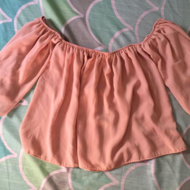 Off Shoulders Baby Pink